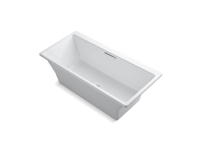 "Kohler K-819-F62-0 Rve 67"" x 32"" Freestanding Bath with Brilliant Blanc Base"