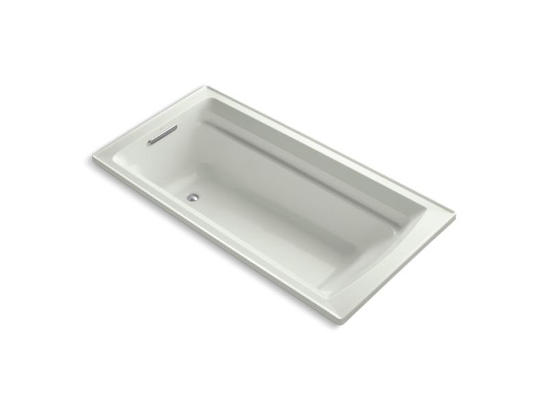 """Kohler K-1125-W1-NY Archer 72"""" x 36"""" Drop-In Bath with Bask Heated Surface and Reversible Drain in Dune"""