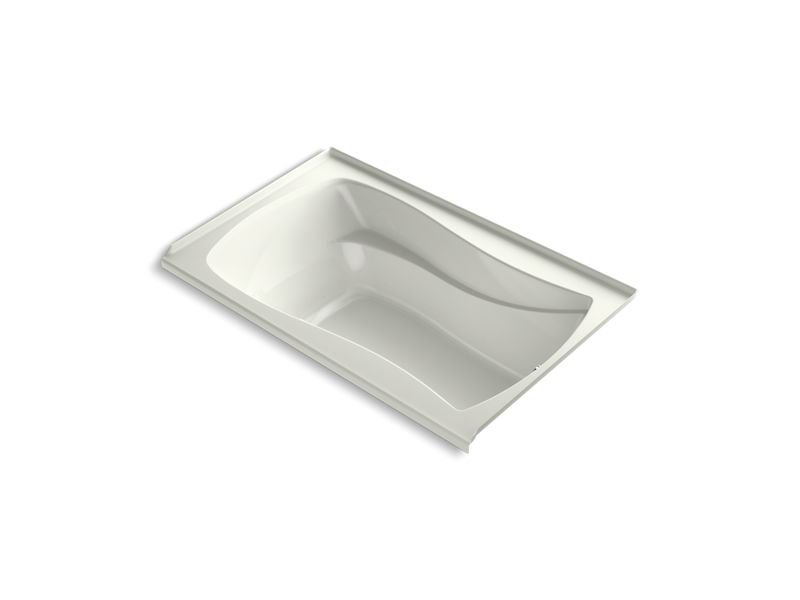 Kohler K-1242-RW-NY Mariposa 60 x 36 Alcove Bath with Bask Heated Surface, Integral Flange and Right-hand Drain in Dune