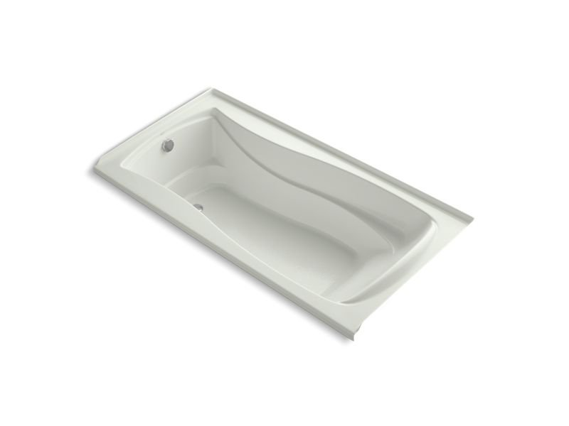 """Kohler K-1259-LW-NY Mariposa 72"""" x 36"""" Alcove Bath with Bask Heated Surface and Left-Hand Drain in Dune"""