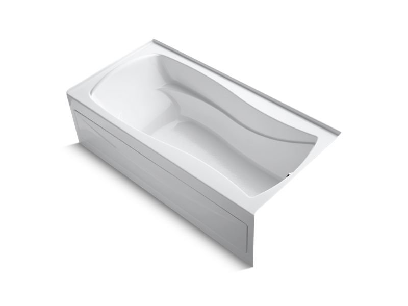 "Kohler K-1259-RA-0 Mariposa 72"" x 36"" Alcove Bath with Integral Apron, Integral Flange and Right-Hand Drain in White"
