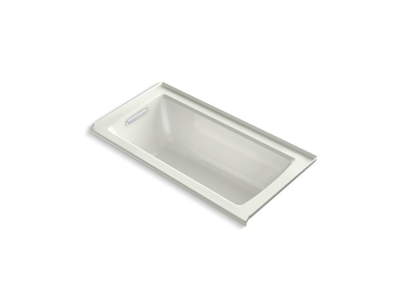 Kohler K-1946-L-NY Archer 60 x 30 Alcove Bath with Integral Flange and Left-hand Drain in Dune