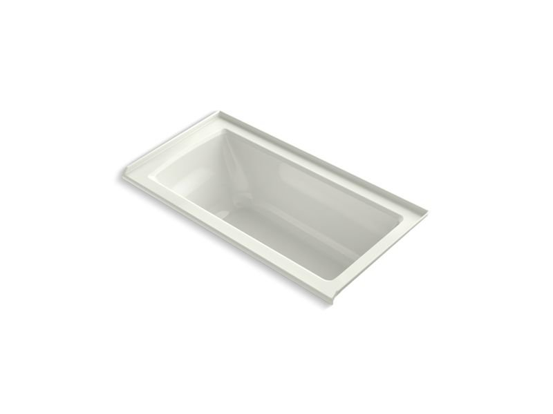 Kohler K-1946-R-NY Archer Alcove Bath with Integral Flange and Right-Hand Drain in Dune