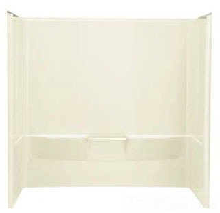 "Sterling Performa 71044100-96 60"" X 30"" X 60-1/4"" Durable High Gloss Alcove 3-Piece Bath And Shower Wall Set"