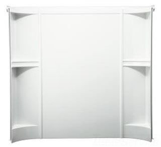 "Sterling Accord 71244100-0 60"" X 30"" X 55"" White No Caulking 3-Piece Bath And Shower Wall Set"