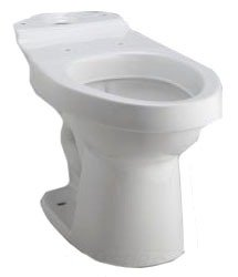"Sterling Luxury 402086-0 16-1/2"" 0.8 Liquid Waste Gpf/1.6 Solid Waste Gpf White Vitreous China Elongated Toilet Bowl"