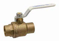 "NIBCO NJ998XA 1"" Cxc 600Psi Cwp Brass Full Port Two-Piece Ball Valve"