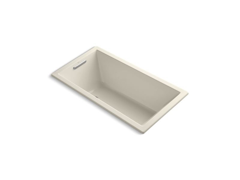 "Kohler K-1168-VBW-47 Underscore Rectangle 60"" x 32"" Drop-In Vibracoustic Bath with Bask Heated Surface in Almond"