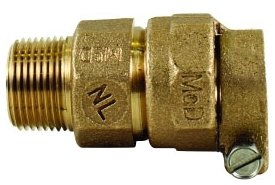 "A.Y. Mcdonald 5141-168 1-1/2"" X 1-1/2"", -22 Cts Compressionxmpt, Lead-Free, Brass, Coupling W/Epdm Rubber Gasket"