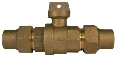 """A.Y. Mcdonald 5129-112 1-1/2"""", Copper Flarexcopper Flare, 300Psig, Lead-Free, Brass, Ball, Curb Stop Valve"""