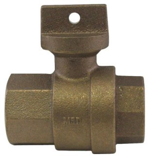 """A.Y. Mcdonald 5129-119 2"""", Fptxfpt, 300Psig, Lead-Free, Brass, Ball, Curb Stop Valve"""