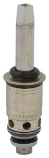 "Chicago Quaturn 377-XTRHJKABNF 3-3/8"" Solid Brass 1/4 Turn Right Hand 90Deg Faucet Cartridge"