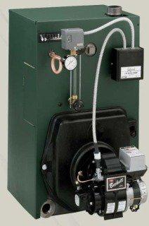"Williamson OSB-5-P-S2-W 174Mbh 14.2Gallon 8"" X 8"" Vent Cast Iron Floor Mount Steam Oil Fired Boiler"