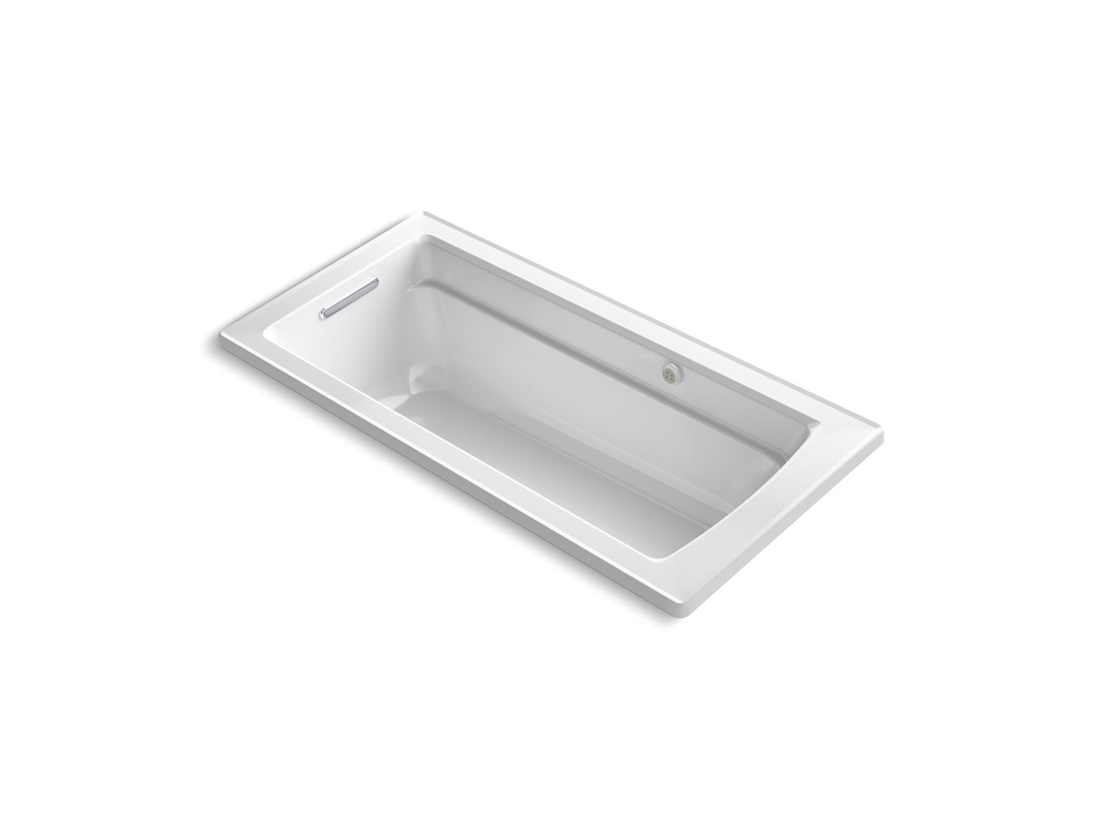 Kohler K-1949-G-0 Archer 66 x 32 Drop-in Bubblemassage Air Bath with Reversible Drain in White