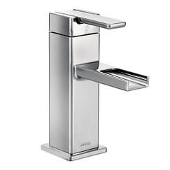 Moen S6705 90 - Degree Single Hole Handle Mid - Arc Lavatory Faucet in Chrome
