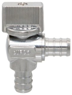 """NIBCO Pro-Stop ND619L6 1/2"""" X 3/8"""" Pexxcompression Copper Alloy Angle Stop Valve"""