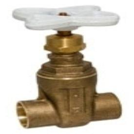 """Nibco NJ0J0XA 1"""", Cxc, Class 125, 100Psi, 300Psi Cwp, Lead-Free, Silicon Bronze Alloy, Non-Rising Stem, Screw-In Bonnet, Solid Wedge, Gate Valve"""