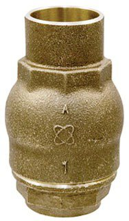 "NIBCO Ring NJ7Q0XA 1"" Cxc 100Psi/250Psi Cwp Bronze Alloy Spring Actuated In-Line Lift Check Valve"