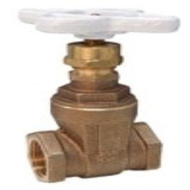 """Nibco NL0J0XA 1"""", Fptxfpt, Class 125, 100Psi, 300Psi Cwp, Lead-Free, Silicon Bronze Alloy, Non-Rising Stem, Screw-In Bonnet, Solid Wedge, Gate Valve"""