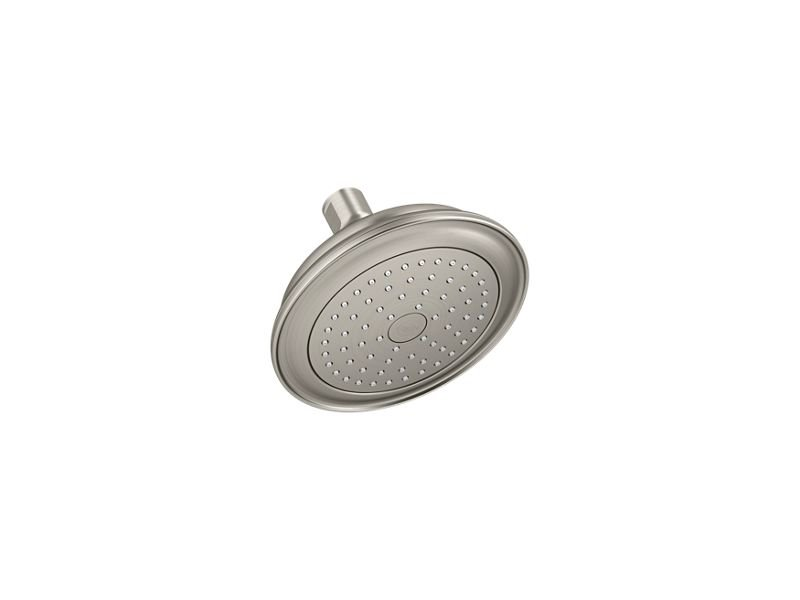 Kohler K-72773-BN Artifacts 2.5 GPM Single-Function Showerhead with Katalyst Air-Induction Technology in Vibrant Brushed Nickel