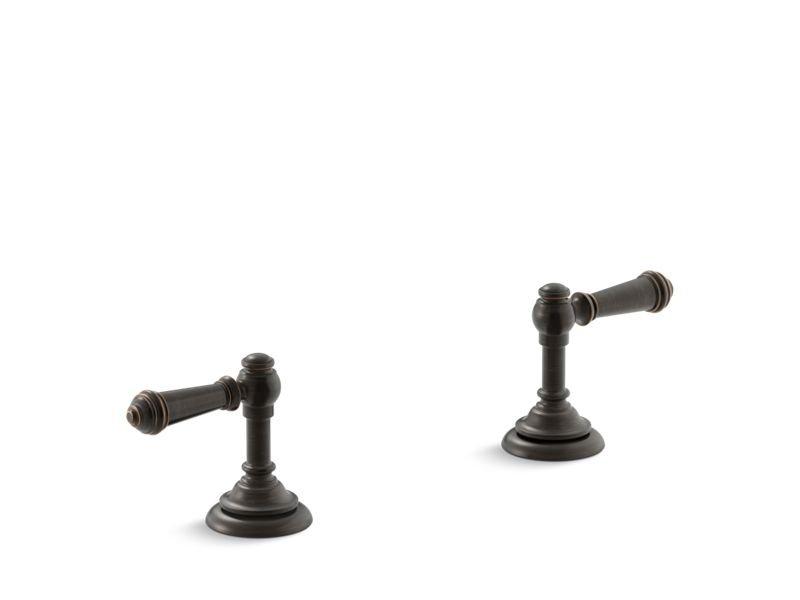 Kohler K-98068-4-2BZ Artifacts Bathroom Sink Lever Handles in Oil-Rubbed Bronze