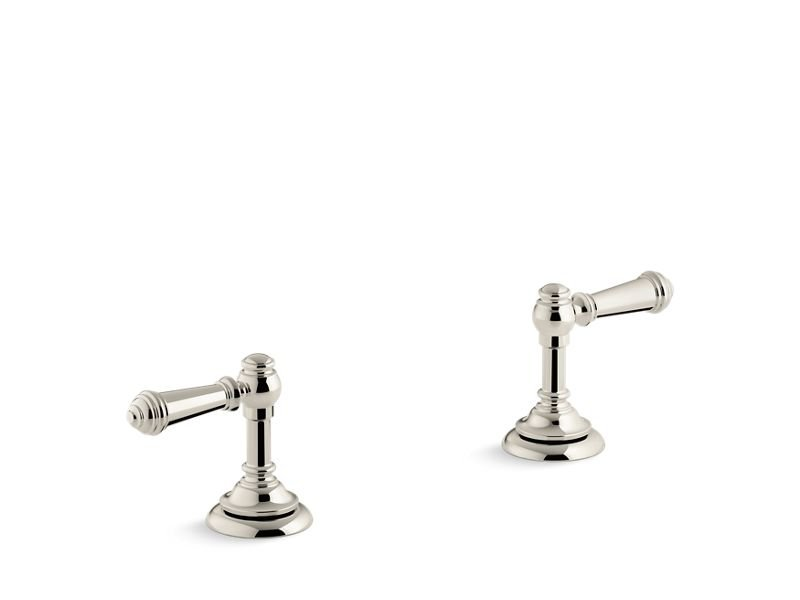 Kohler K-98068-4-SN Artifacts Bathroom Sink Lever Handles in Vibrant Polished Nickel