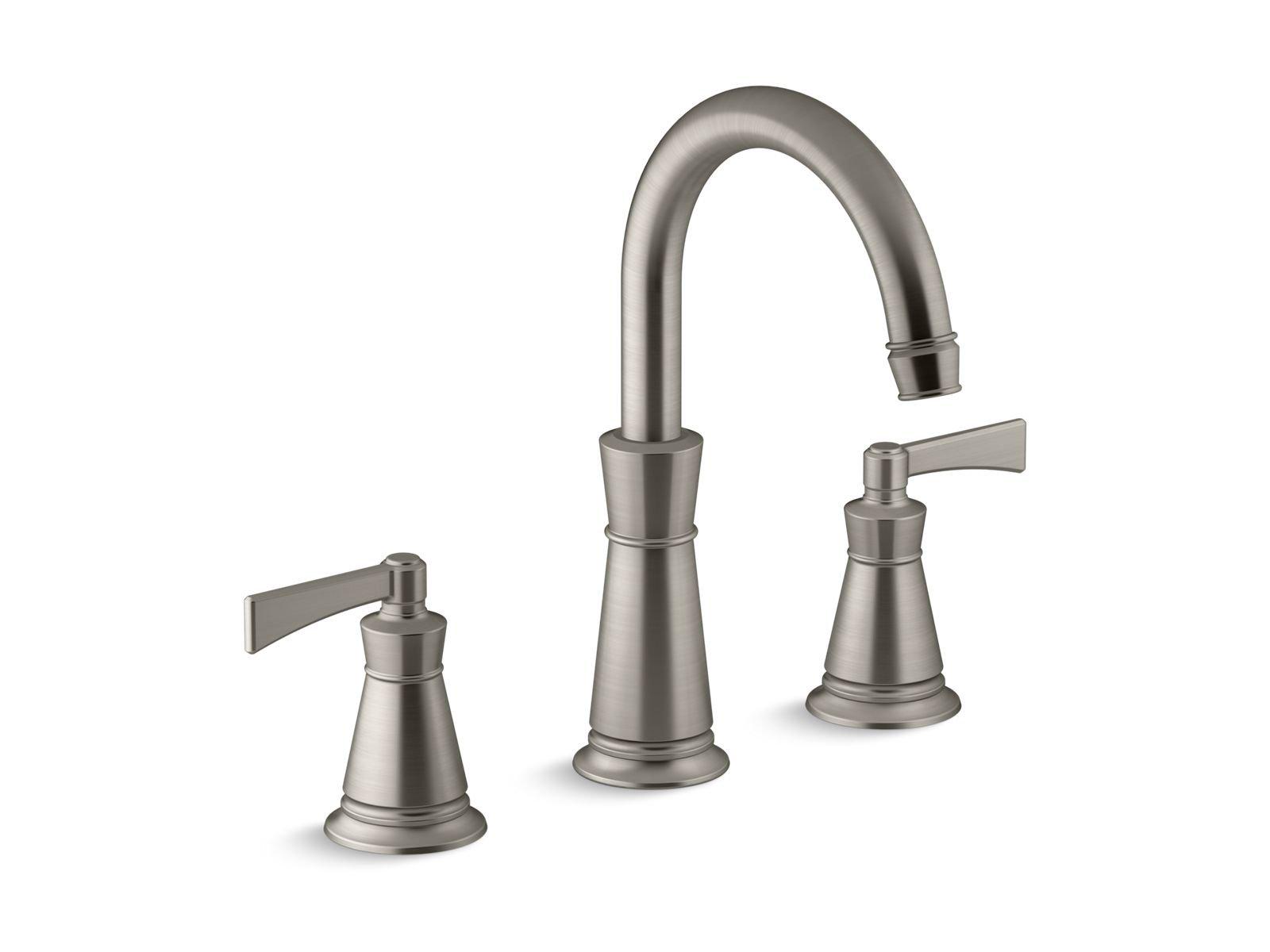 Kohler K-T45849-4-BN Archer Deck-Mount Bath Faucet Trim in Vibrant Brushed Nickel