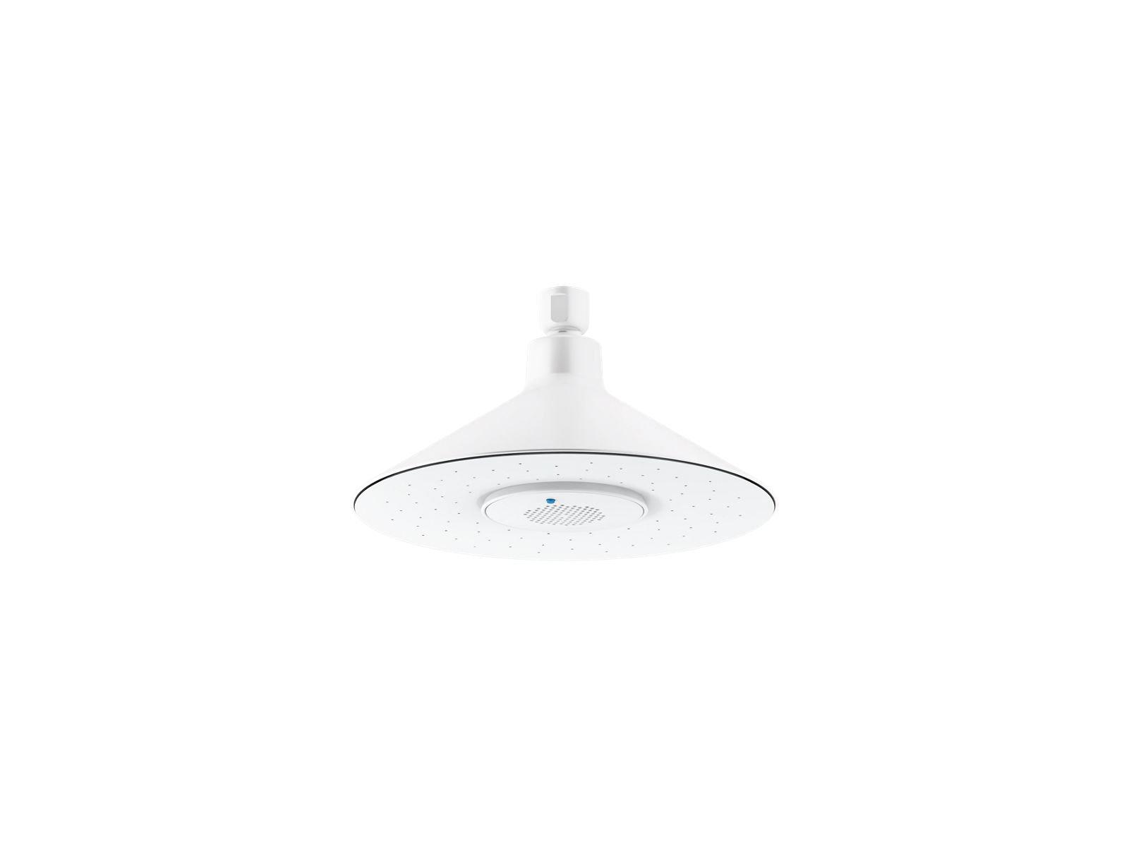 Kohler K-99105-0 Moxie 2.5 Gpm Rainhead with Wireless Speaker in White