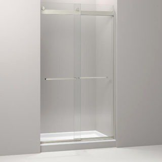 Kohler Levity K-706117-L-NX Brushed Nickel Glass Rear Shower Door Panel And Assembly Kit