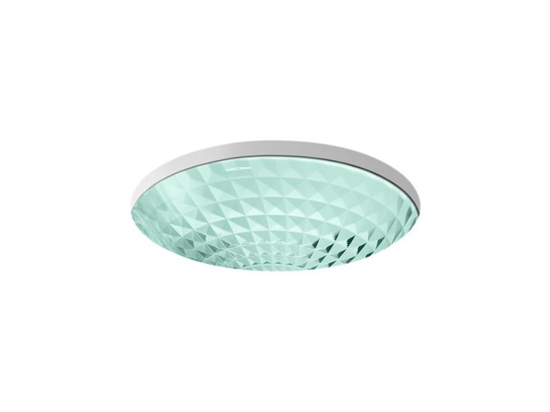 Kohler K-2361-TG2 Kallos Under-Mount Bathroom Sink in Translucent Dew