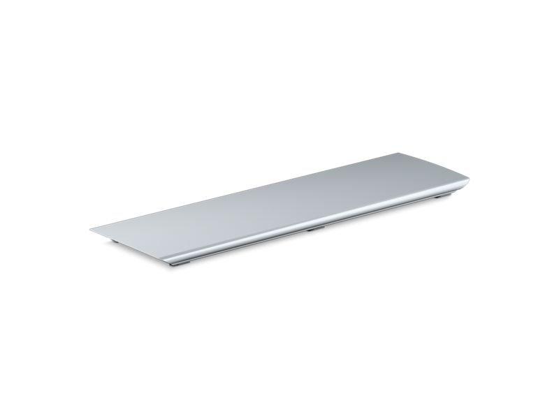 """Kohler K-9156-SH Bellwether Aluminum Drain Cover for 60"""" X 32"""" Shower Base in Bright Silver"""