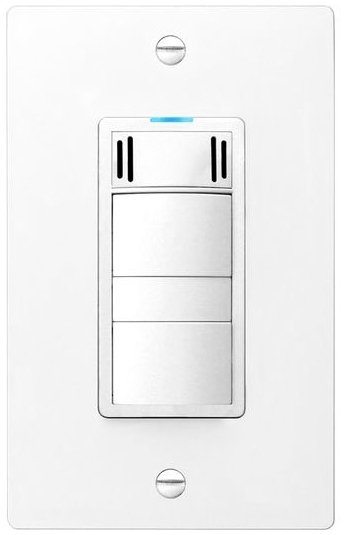 Panasonic FV-WCCS2-W White Three in One Condensation Sensor Wall Switch for Whisper Series Bath Fans and Lights with Countdown Timer and Manual Control