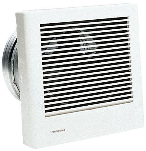 Panasonic FV-08WQ1 White Whisper Wall 70 CFM 1.1 Sones Wall Mounted Energy Star Rated Bath Fan with Fully Enclosed Condenser Motor and UL Listing