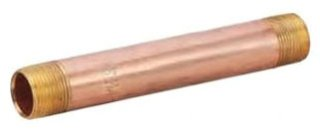 "NBR033 1/2"" X 3"" Mptxmpt Lead-Free Brass Pre-Cut Nipple"