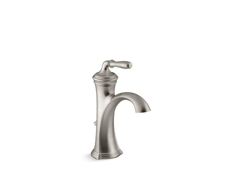 Kohler K-193-4-BN Devonshire Single-Handle Bathroom Sink Faucet in Vibrant Brushed Nickel