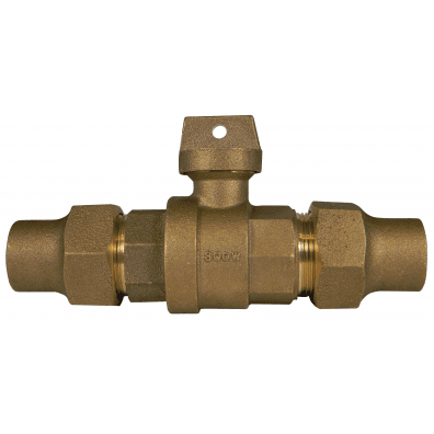 """A.Y. Mcdonald 5142-340 1-1/4"""", Copper Flarexcopper Flare, 300Psig, Lead-Free, Brass, Ball, Curb Stop Valve"""
