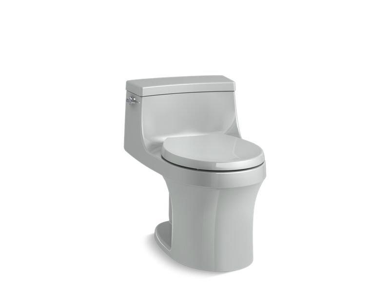 Kohler K-4007-95 San Souci One-piece Round-front 1.28 Gpf Toilet with Aqua piston Flushing Technology in Ice Grey