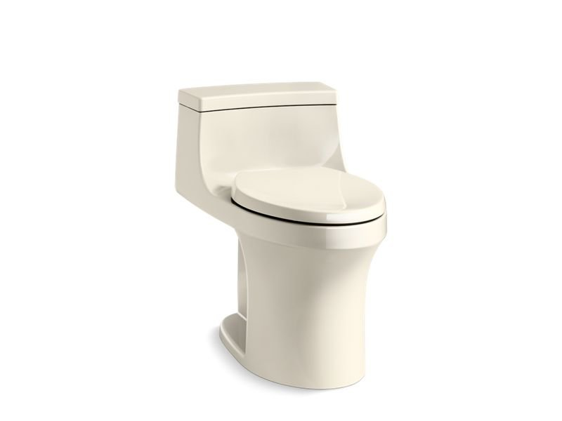 Kohler K-5172-RA-47 San Souci Comfort Height One-piece Compact Elongated 1.28 Gpf Toilet with Aqua piston Flushing Technology and Right-hand Trip Lever, Concealed Trapway in Almond