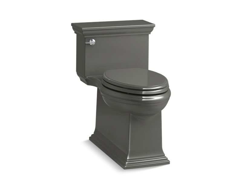 Kohler K-6428-58 Memoirs Stately Comfort Height Skirted One-piece Compact Elongated 1.28 Gpf Toilet with Aqua piston Flush Technology and Left-hand Trip Lever in Thunder Grey