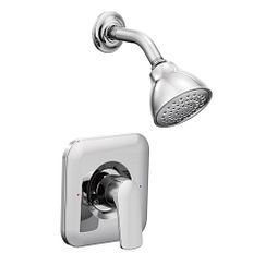 Moen T2812 Rizon Single Handle Pressure Balance Shower Only Trim Kit in Chrome