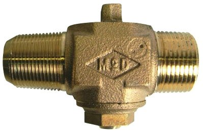 """A.Y. Mcdonald 5112-100 3/4"""", Male Compression Threadedxmpt, 100Psig, Lead-Free, Brass, Curb Stop Valve"""