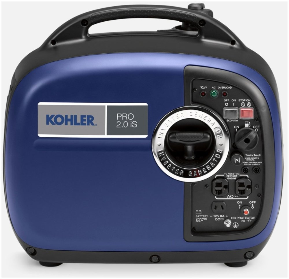 """Kohler PRO2.0IS 19.2"""" X 11"""" 17.9"""", 120Vac, 20A, 2Kw, 1.1Gallon, 51.5 To 61Db, Compact, Portable Gas Generator"""