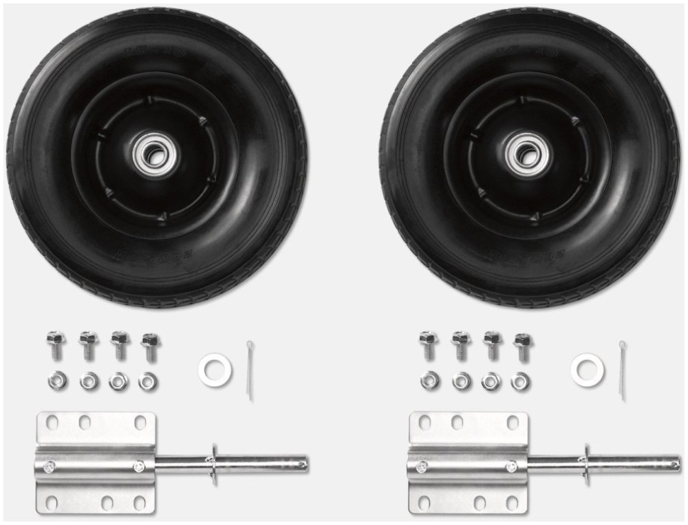 Kohler 2575546S Universal, Portable Generator Wheel Kit W/Wheel, Axle, Flat Washer, Split Pin, Bolt And Nut