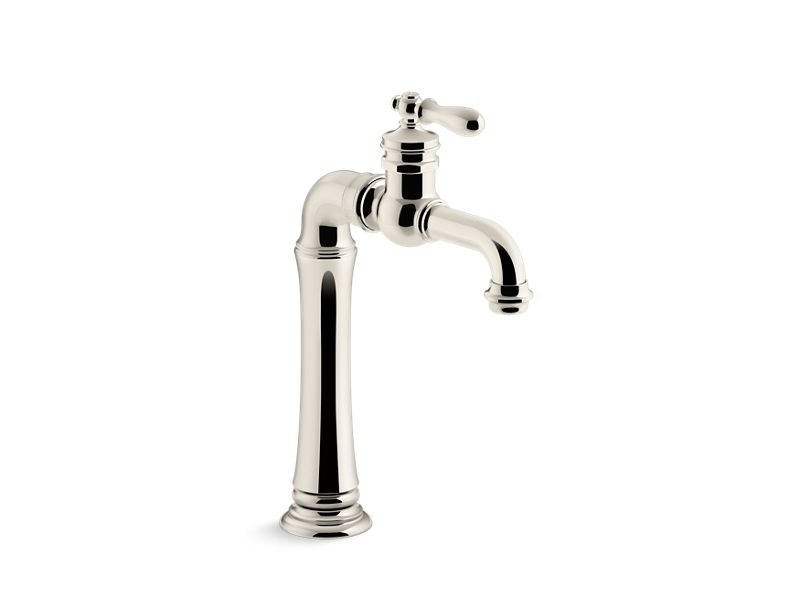 Kohler K-99268-SN Artifacts Gentleman'S Bar Sink Faucet in Vibrant Polished Nickel