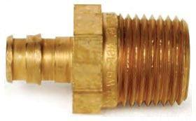 "Uponor LF4525075 1/2"" X 3/4"" Pexxmpt Brass Reducing Adapter"