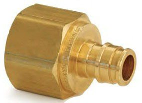 """Uponor LF4575050 1/2"""" X 1/2"""" Pexxfpt Brass Straight Adapter"""