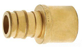 "Uponor Q4516375 5/8"" X 3/4"" Pexxc Brass Reducing Adapter"