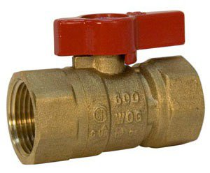 "NIBCO N012118 3/4"" Fptxfpt 600Psi Cwp Brass Reduced Port Two-Piece Ball Valve"