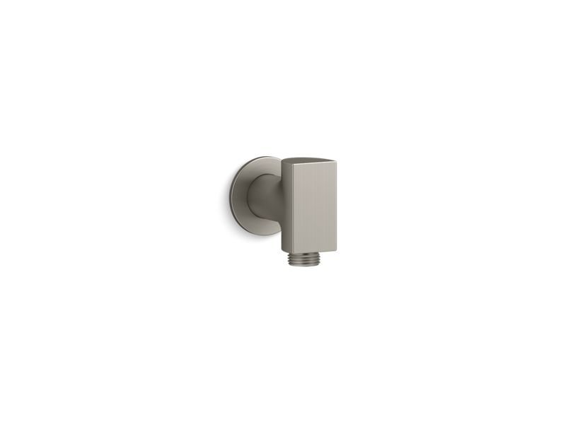 Kohler K-98353-BN Exhale Wall-Mount Supply Elbow with Check Valve in Vibrant Brushed Nickel