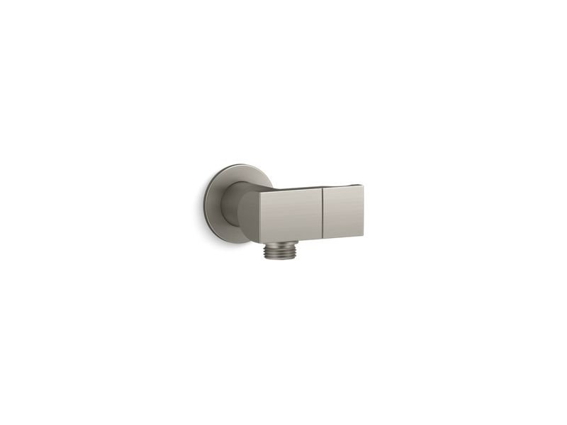 Kohler K-98354-BN Exhale Wall-Mount Handshower Holder with Supply Elbow and Check Valve in Vibrant Brushed Nickel